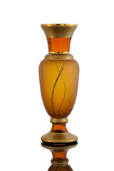 empty vase glass isolated