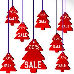 иллюстрация новогодняя распродажа