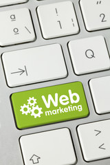 Web Marketing. keyboard