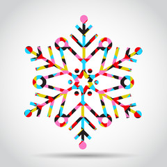Vector snowflake in abstract style
