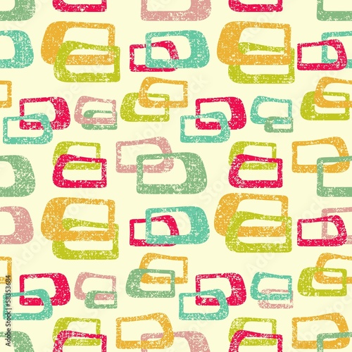 retro colorful seamless pattern, vector illustration