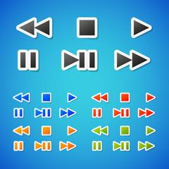 Vector media icons