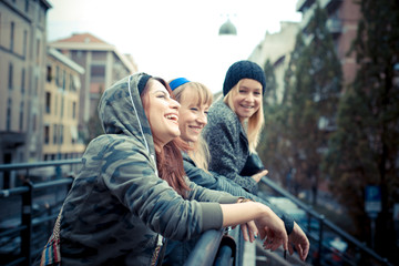 three friends woman