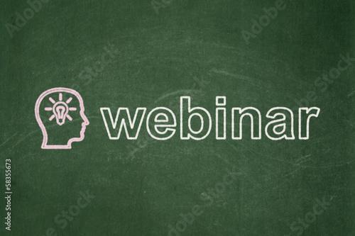 Education concept: Head With Lightbulb and Webinar