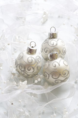 Christams baubles background