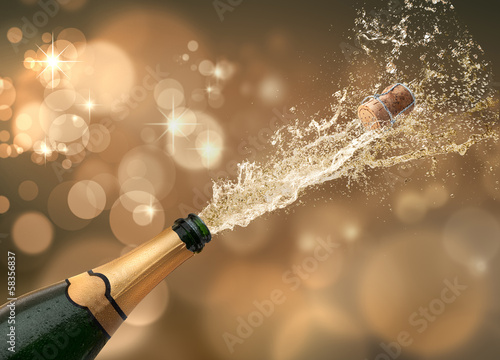 Fotobehang Alcohol Champagner-Splash 2