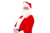 Santa Claus happy about christmas time