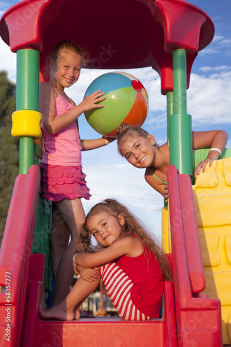 girls at the playground