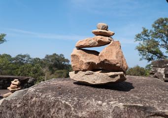 Stones pyramides at Ta Keo temple. Angkor. Cambodia