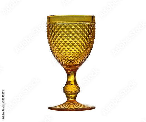 Vintage wine glass isolated on a white.