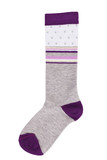 Long sock gray and purple