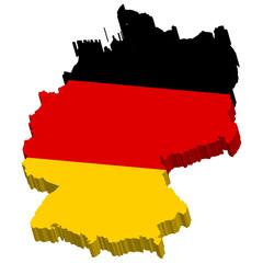 Deutschlandkarte 3D
