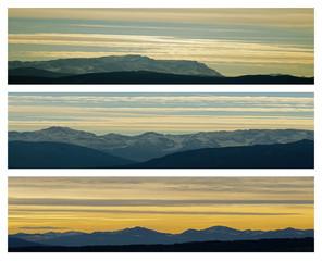 Collage mit Panorama der Alpen