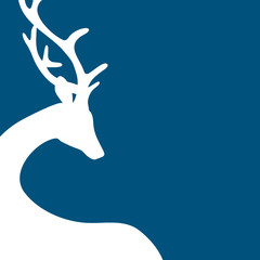 Reindeer Background Blue