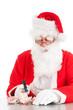 Santa breaking his piggy bank