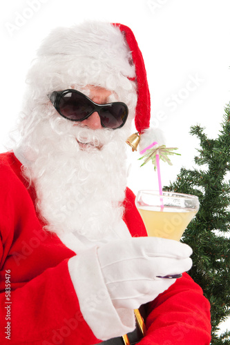 Santa on vacation
