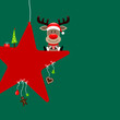 Rudolph Red Star & Symbols Green