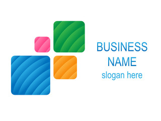 Textured Cubes BUSINESS LOGO (symbol icon)