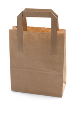 Brown Paper Shopping or lunch Bag