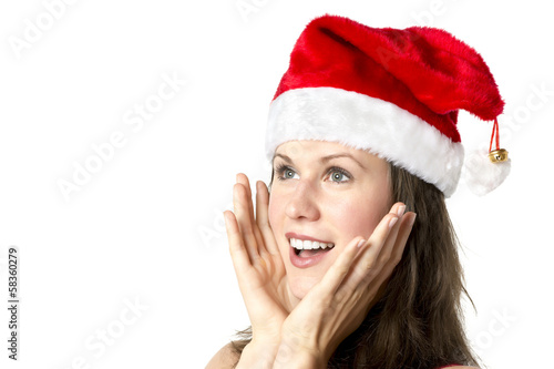Laughing Santa Claus Woman