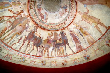 Fresco In Tomb Of Thracian King