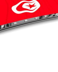Designelement Flagge Tunesien