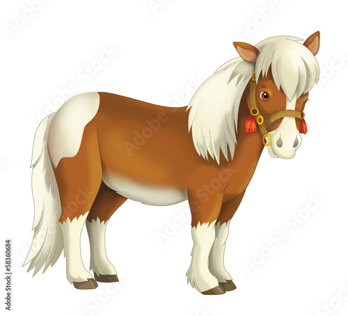 The illustration of the kids - smiling horses - icon - wild west