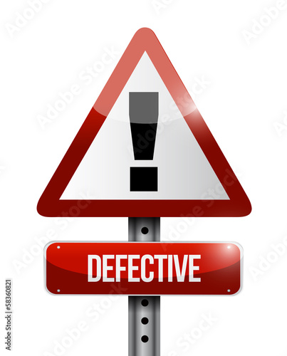defective warning road sign illustration design