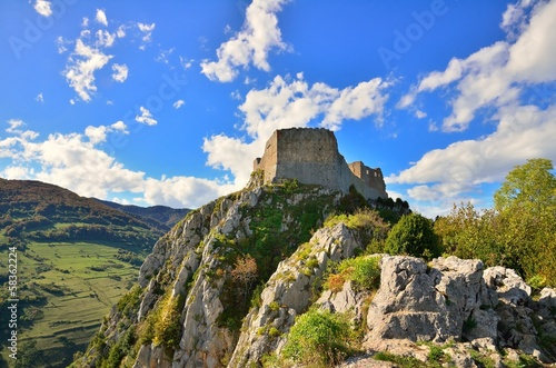 Leinwandbild Motiv Montsegur cathar castle in France