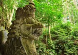 Beautiful dragon sculpture in the jungle, Ubud