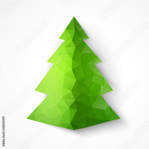 Christmas triangle fir tree.