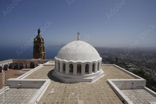 Foto op Plexiglas Algerije Oran Santa Cruz Chapel