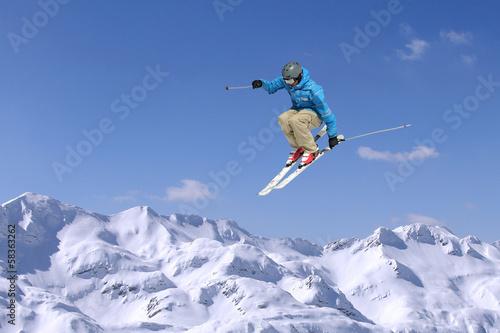Aluminium Wintersporten Jumping skier