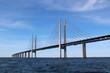 Leinwanddruck Bild - Öresund Brücke - Verbindung zwischen Dänemark und Schweden