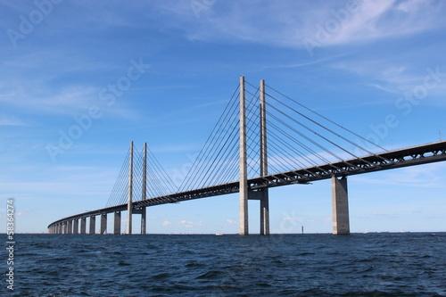 Fotobehang Brug Öresund Brücke - Verbindung zwischen Dänemark und Schweden