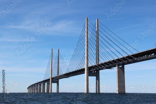Poster Öresund Brücke - Verbindung zwischen Dänemark und Schweden