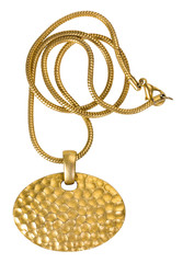 Close-up of a gold necklace