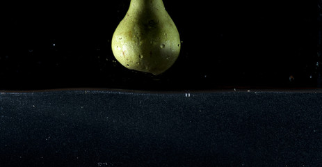 Pear water splash