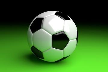 Fußball auf grün