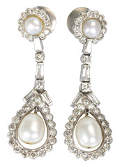 Close-up of a pair of earrings