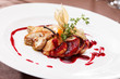 canvas print picture - foie gras with sauce