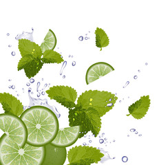 Lime, Mint and splash of water