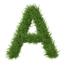 Letter of the alphabet made ​​from grass