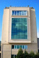 Business center and blue sky