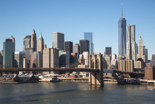 壁紙(ウォールミューラル) - New York City Brooklyn Bridge downtown skyline