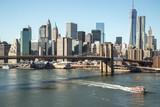Fototapety New York City Brooklyn Bridge downtown skyline