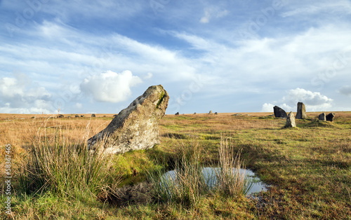 Stannon Stone Circle on Bodmin Moor in Cornwall