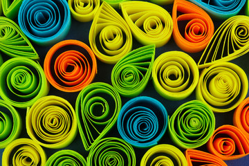 Colorful quilling close-up