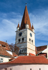 Cisnadie church tower, Transylvania, Romania