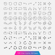 100 line icon set - Arrows. Light version
